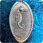 Delaware | Fenwick Island | Sea Shell City, Inc. | Seahorse Pressed Copper Penny