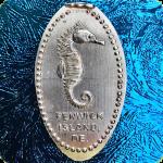 Delaware | Fenwick Island | Sea Shell City, Inc. | Seahorse Pressed Copper Penny
