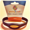 Hot Black Wolf Pennybandz® Elongated Pressed Penny Holder Wristband – Adult Size